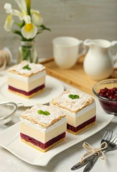 Croatian Cuisine, Croatian Recipes, Baking Recipes, Cake Recipes, Dessert Recipes, Torta Recipe, Mini Cheesecakes, Pastry Cake, Strawberry Recipes