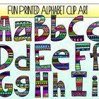 fun printed alphabet clip art - Fun Letters To Print