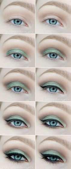 Mint Smoky Eye Tutorial - Head over to Pampadour.com for product suggestions! Pampadour.com is a community of beauty bloggers, professionals, brands and beauty enthusiasts! #makeup #howto #tutorial #beauty #smokey #smoky #eyes #eyeshadow #cosmetics #beautiful #pretty #love #pampadour