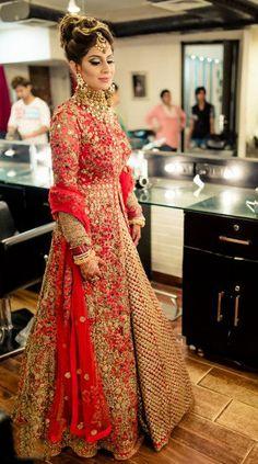 New Indian Bridal Wear Anarkali Fashion Styles Ideas Indian Bridal Wear, Indian Wedding Outfits, Pakistani Bridal, Pakistani Outfits, Bridal Outfits, Bridal Lehenga, Indian Outfits, Bridal Dresses, Indian Clothes