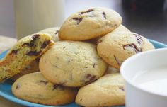 Butter cookies with chocolate Muffin, Ale, Cookies, Chocolate, Breakfast, Recipes, Crack Crackers, Morning Coffee, Ale Beer