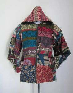 PATCHWORK  Woolen Unisex Funky Jacket by isoleynz on Etsy