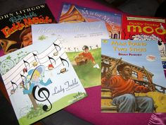 Educational Music Books!  My slowly growing collection of storybooks, related to music. Great tune in or relaxing ending for music lessons.