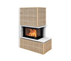 Fargo with oak panels by Nordpeis | Wood burning stoves