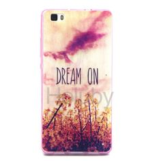 Colored Drawing Soft TPU Back Case for Huawei Ascend P8 Lite - Quote Dream On