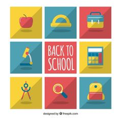 Free vector Collection of back to school elements #25703