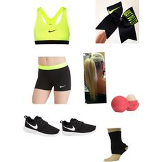 Cheer outfit? by saylorfashions on Polyvore featuring polyvore, fashion, style, NIKE and Eos