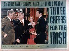 Priscilla Lane Dennis Morgan film Three Cheers for the Irish 35m-5778