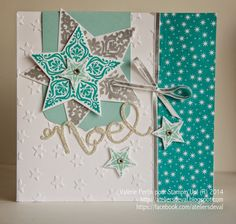 The Workshops of Val: Christmas card - Magnet Mode City Mix Media, Wedding Table Centres, Star Cards, Diy Christmas Cards, Stamping Up Cards, Pocket Letters, Graduation Cards, Greeting Cards Handmade, Diy Cards