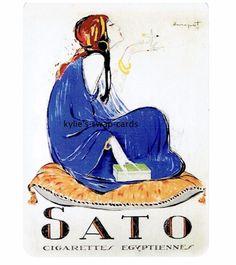 Y75 SINGLE swap playing cards EGYPTIAN CIGARETTE SMOKING ADVERT Sato lady