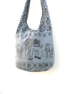 Shoulder Bag Crossbody Bag Handmade Bag Elephant Bag Hobo Cross Body  Bag Hippie Boho bohemian bag Purse Gift /  Gray Color Sling  bag by Avivahandmade on Etsy