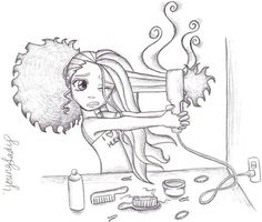 Natural hair art. Curly, afro, ebony, black, kinky, wavy, rasta, natural hair...www.facebook.com/gonaturalspain