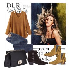 """DLR contest"" by fashionb-784 ❤ liked on Polyvore featuring H&M, WithChic, Yves Saint Laurent and Jimmy Choo"