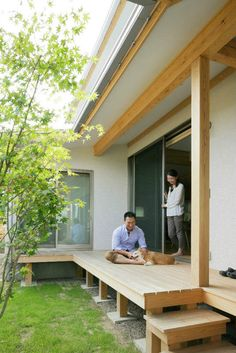 自然素材×私らしい暮らし Patio Design, House Design, Small Home Gyms, Home Focus, Japanese Interior Design, Nordic Home, Outdoor Pergola, Japanese House, Interior Exterior