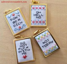 Rectangular Pendant Kit for cross stitch