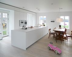 Image 10 of 16 from gallery of Store Lauvøya - Bestemorstua / Mikado Arkitektur. Photograph by Mika Meienberger Old Building, Residential Architecture, Kitchen Design, Kitchen Ideas, Slate, House Design, Gallery, Room, Modern Kitchens