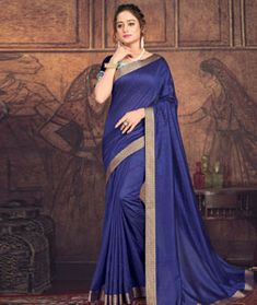 Chanderi Silk Chanderi Silk Saree, Silk Sarees, Long Cut, Spring Sale, Blouse Online, How To Dye Fabric, Head To Toe, Color Shades, Blue Fabric