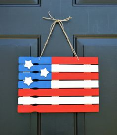 American Flag Paint Stick Decor