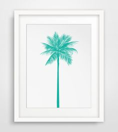 Turquoise Palm Tree Print Teal Palm Tree by MelindaWoodDesigns, $5.00