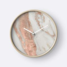Marble - Rose Gold Shimmery Marble by naturemagick