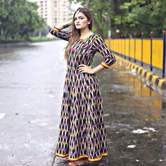 Look stylish and chic in our new collection of women's clothing and accessories. Dress Muslim Modern, Ikkat Dresses, Cotton Gowns, Ladies Fancy Dress, Kurti Designs Party Wear, Mode Hijab, Indian Designer Wear, Dress Patterns, Pretty Dresses