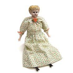 Vintage Early 1900s Minerva Metal Head Doll by 42ndAvenueVintage