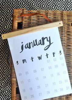Limited edition calendar by Australian artist/maker; Millie Fairhall // Available online while stocks last