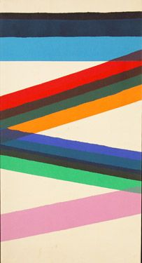 Paul Reed Upstart 39  Painting - Acrylic on canvas, 1966  43 x 23