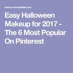 Easy Halloween Makeup for 2017 - The 6 Most Popular On Pinterest