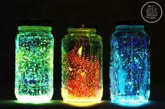 Glow jars!! Fun to make, good for activities like sleepovers!