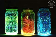 Glow jars!! Fun to make, good for activities like sleepovers!