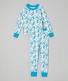Blue Iggy the Bunny Pajama Set - Toddler & Kids #zulily #zulilyfinds