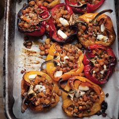 Stuffed Peppers with Fondant Rutabaga & Goat Cheese steckrübe Ottolenghi Recipes, Yotam Ottolenghi, Vegetable Enchiladas, Goat Cheese Recipes, Cooked Carrots, Vegetable Side Dishes, Vegetarian Recipes, Vegetarian Dinners, Vegetarian Cooking