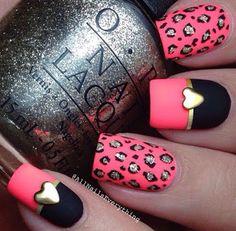 black and white and gold jaguar trips nail polish