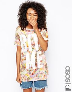 ASOS TALL Exclusive Bite Me Boyfriend T-Shirt