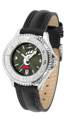 Showcase the hottest design in watches today! A functional bezel is silver tone to compliment your favorite team logo. A durable, long-lasting combination nylon/leather strap, together with a date cal