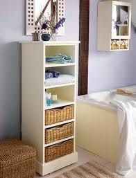 Choosing the right bathroom storage accessories will help to de-clutter and beautify your bathroom. This highly trafficked area of the home deserves special attention when it come to storage. Storage, Home, Bathroom Basket Storage, Country Bathroom, Storage Spaces, Country Inspired Bathrooms, Creative Bathroom Storage Ideas, Small Rooms, Bathroom Storage