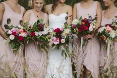 Plums and Pinks , wedding bouquets in the heart of Matamata, New Zealand Photo by Ruth Gilmore 2016 Wedding Trends, Wedding 2015, Wedding Gowns, Wedding Bouquets, Wedding Fun, Wedding Colors, Fall Wedding, Rustic Wedding, Wedding Ideas