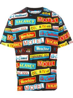 Moschino Sign Print T-shirt - Eraldo - Farfetch.com