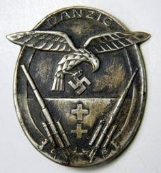 RARE Luftwaffe DANZIG Flak Artillery Badge, German World War II ...