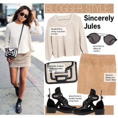 Blogger Style-Sincerely Jules by kusja on Polyvore featuring moda, Madewell, Violeta by Mango, Balenciaga, Pierre Hardy, Illesteva, StreetStyle, BloggerStyle and sincerelyjules