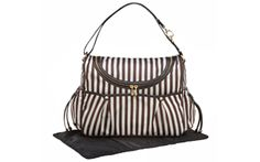 Adorable - Baby in Style: Brown & White Bendel Baby Bag by Henri Bendel