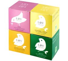 løv tea minimal packaging system