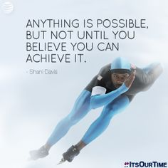 Shani Davis inspires us through his dedication! #ItsOurTime #TeamUSA #Sochi