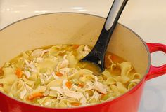 Cooking With Wine (In A Fishbowl-Sized Glass): Homemade Chicken Noodle Soup with Mona's Egg Salad Sandwiches