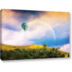 ArtWall Dragos Dumitrascu Keys to Imagination V Gallery-wrapped Canvas Art, Size: 24 x 36, Blue