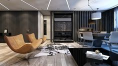 Duplex Nordului | Mon-ARH Studio Conference Room, Interior Design, Studio, Table, Furniture, Home Decor, Nest Design, Decoration Home, Home Interior Design