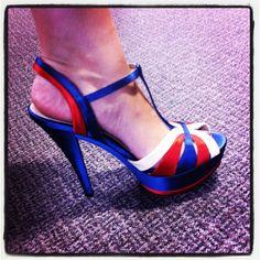 Patriotic heels - yes please!