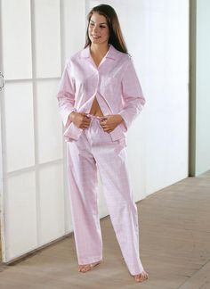 Kwik Sew Sewing Pattern Misses' Button-Down Pajamas Kwik Sew Patterns, Vogue Patterns, Button Up Pajamas, Pajama Pattern, Pull On Pants, Short Sleeves, Long Sleeve, Chambray, Jumpsuit