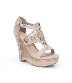 Gianni Bini Rissa Laser-Cut Wedge Sandals
